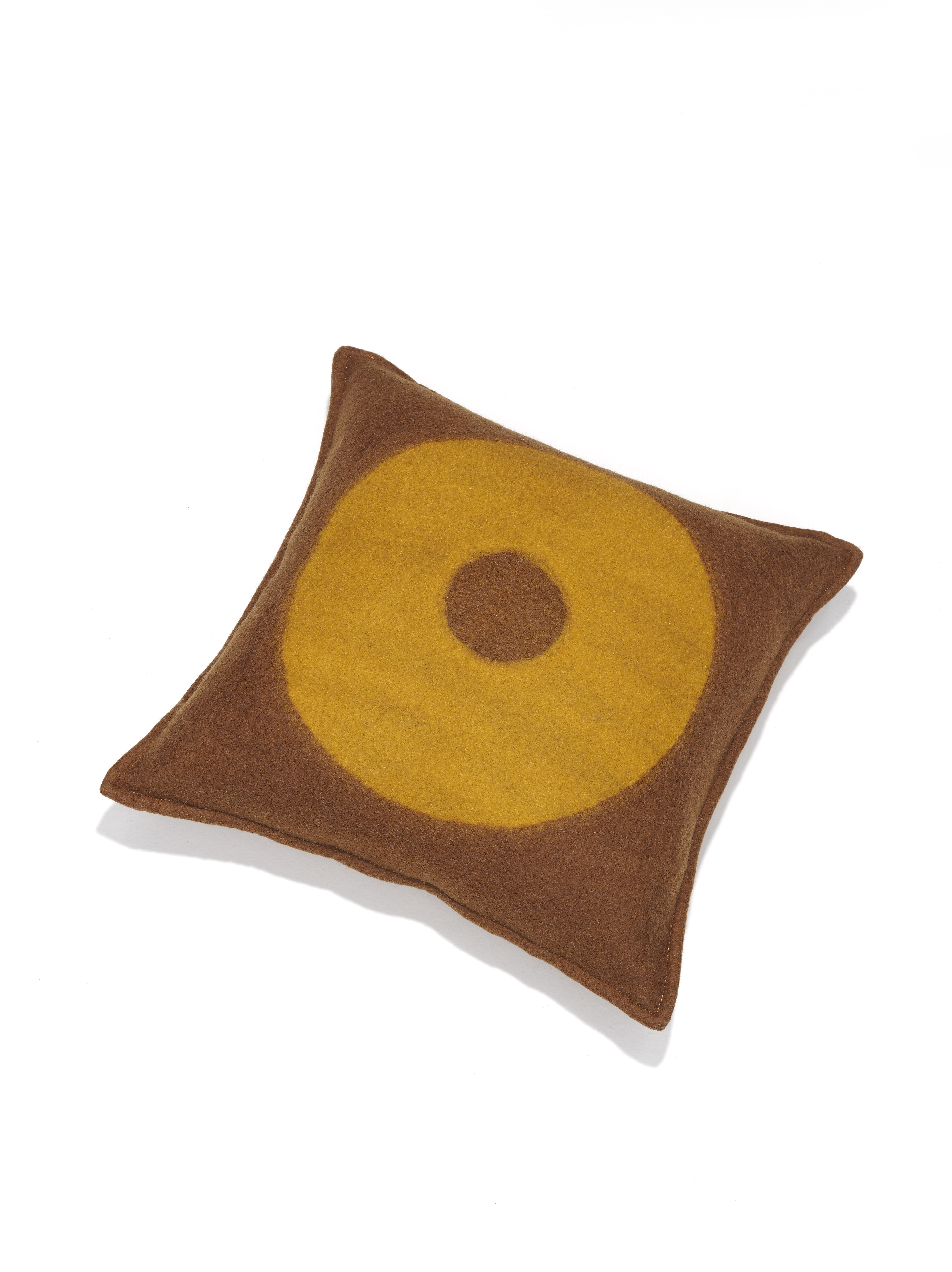 M_and_Otto for Linteloo Glow pillow brown yellow ring
